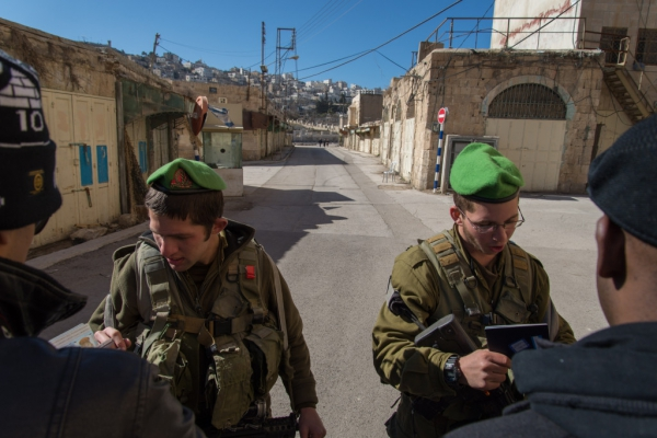 Checkpoint entering illegal settlements in Hebron